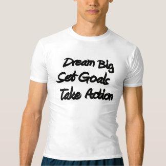 夢の大きい人のフィットネスの圧縮のグラフィックのティー Tシャツ