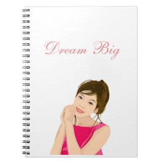 夢の大きい写真のノート ノートブック