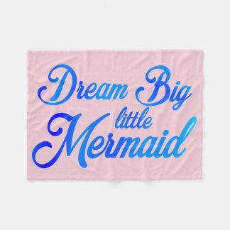 夢の大きく小さい人魚 フリースブランケット