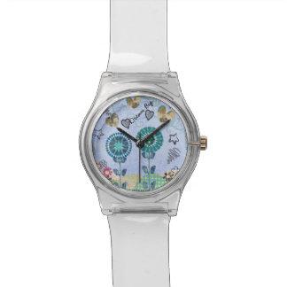 夢の大きく白い腕時計 腕時計