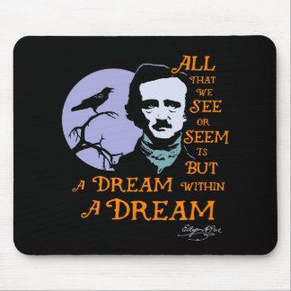 夢の引用文内のエドガー・アラン・ポーの夢 マウスパッド