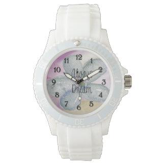 夢の水彩画の花 腕時計