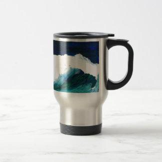 夢の波- CricketDianeの海洋波の芸術 トラベルマグ