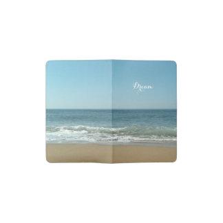 夢の海岸のカスタムなモールスキンジャーナルカバー ポケットMoleskineノートブック