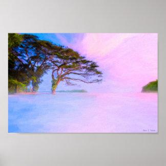 夢の端-湖ニカラグア-記録保管12x8 ポスター