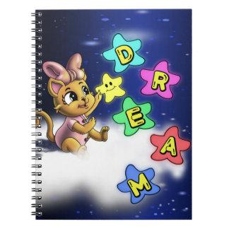 夢の螺線形の写真のノート(80ページB&W) ノートブック