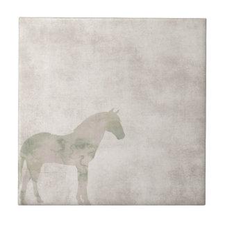 夢の馬: 塵の茶色の水彩画の馬 タイル