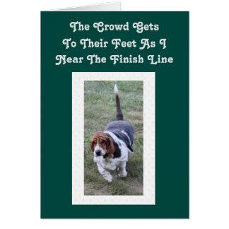 """""""夢の""""バースデー・カードW/Bassetの猟犬は住んでいます カード"""