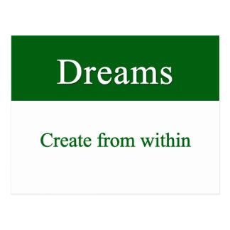 夢は中から作成します ポストカード