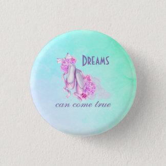 夢は水彩画の本当のバレエのスリッパを来ることができます 3.2CM 丸型バッジ