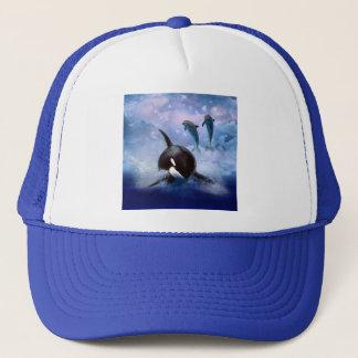夢みるようなクジラおよびイルカの演劇 キャップ