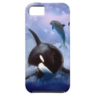 夢みるようなクジラおよびイルカの演劇 iPhone SE/5/5s ケース