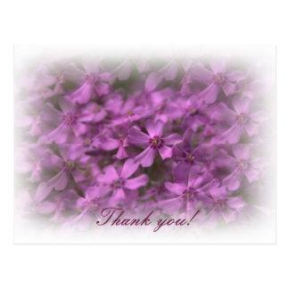 -夢みるようなピンクの花ありがとう ポストカード