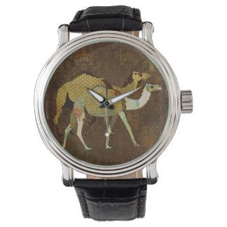 夢みるようなラクダのダマスク織の腕時計 腕時計