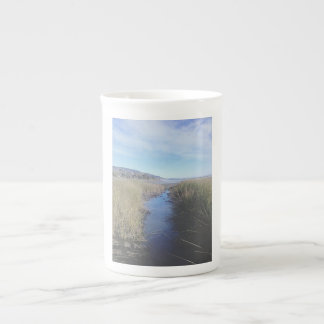 夢みるような入り江の骨灰磁器のマグ ボーンチャイナカップ