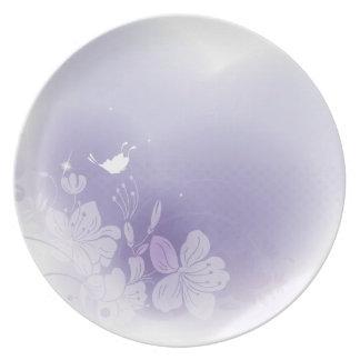 夢みるような紫色 プレート