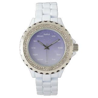 夢みるような紫色 腕時計