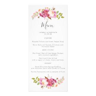 夢みるような花束の結婚式メニュー ラックカード