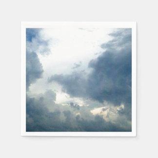 夢みるような雲の曇り空の写真 スタンダードカクテルナプキン