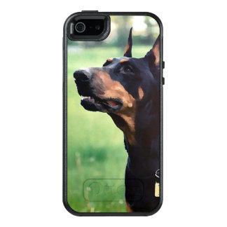 夢みるような(犬)ドーベルマン・ピンシェルの顔の絵画 オッターボックスiPhone SE/5/5s ケース