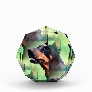 夢みるような(犬)ドーベルマン・ピンシェルの顔の絵画 表彰盾