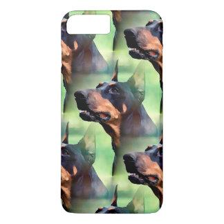 夢みるような(犬)ドーベルマン・ピンシェルの顔の絵画 iPhone 8 PLUS/7 PLUSケース