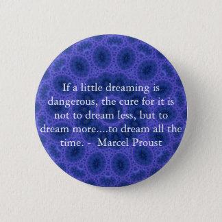 夢みる人および夢を見ることについてのマルセル・プルーストの引用文 5.7CM 丸型バッジ