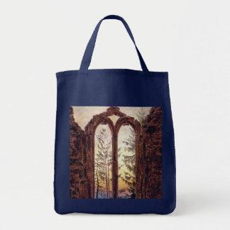 夢みる人- Oybinの修道院の台なし トートバッグ