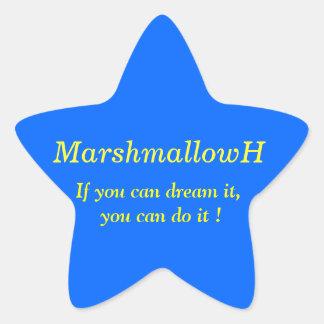 夢みれば 夢は叶う! ウォルト ディズニーの名言  星型シール 青 星シール