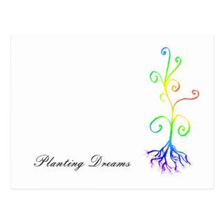 夢を植えるチャクラの植物 ポストカード