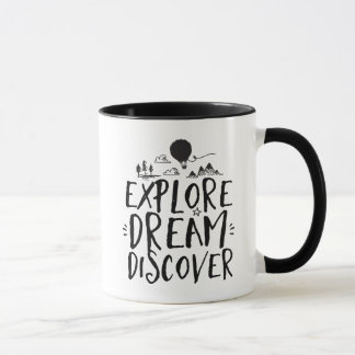 夢を発見しますTrevelの引用文のマグを探検して下さい マグカップ