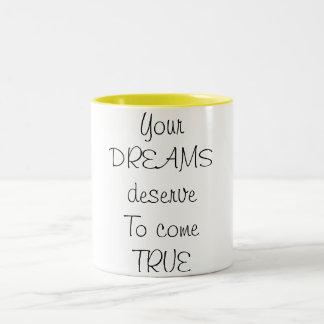 夢 ツートーンマグカップ