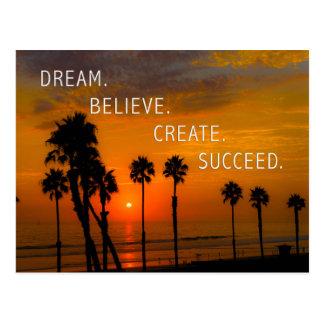 夢。 信じて下さい。 作成して下さい。 成功して下さい ポストカード
