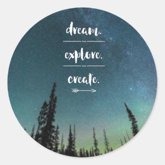 夢。 探検して下さい。 作成して下さい。 ステッカー