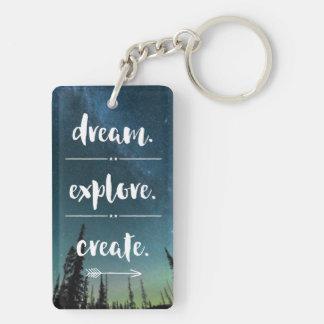 夢。 探検して下さい。 作成して下さい。 Keychain キーホルダー