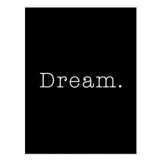 夢。 白黒夢の引用文のテンプレート 葉書き