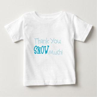 大いに幼児Tシャツ雪が降りますありがとう ベビーTシャツ