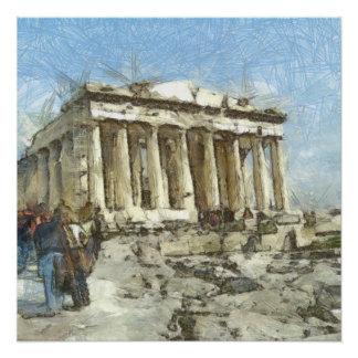 大いに訪問されたアクロポリス ポスター