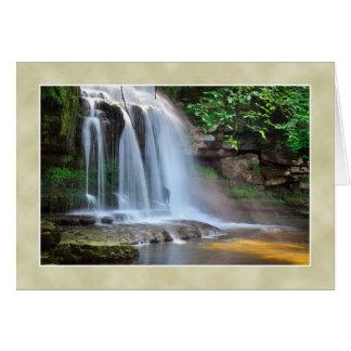 大がまの滝、西のBurton -ヨークシャの谷 カード