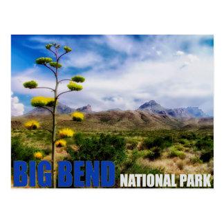 大きいくねりのテキサス州米国の国立公園の郵便はがき ポストカード