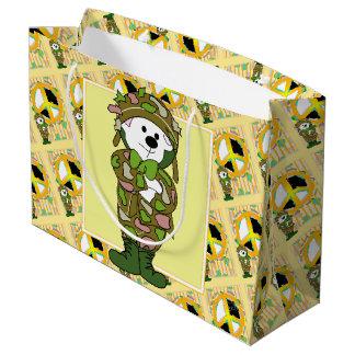 大きいくまの兵士の漫画のギフトバッグ ラージペーパーバッグ
