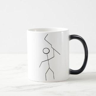 """""""大きいこん棒を持つ細い人"""" モーフィングマグカップ"""