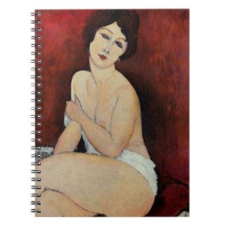大きいつけられていた裸体(キャンバスの油) ノートブック