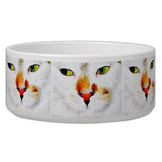 大きいですか中型のペットボウル- SnapDadd著白い子猫