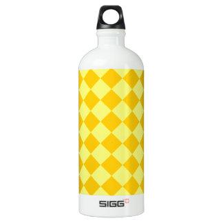 大きいひし形-黄色および蜜柑の黄色 ウォーターボトル