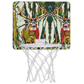 大きいオジロ鹿の木びき台のアウトドアのアクリルの小型 ミニバスケットボールゴール