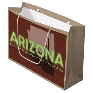 大きいカスタムなギフトバッグ-アリゾナの光沢のある精神 ラージペーパーバッグ
