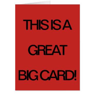 大きいカード! カード