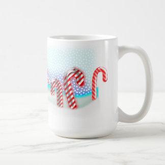 大きいキャンディ・ケーンの森林クリスマス コーヒーマグカップ