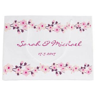 大きいギフトバッグを結婚する花の桜 ラージペーパーバッグ